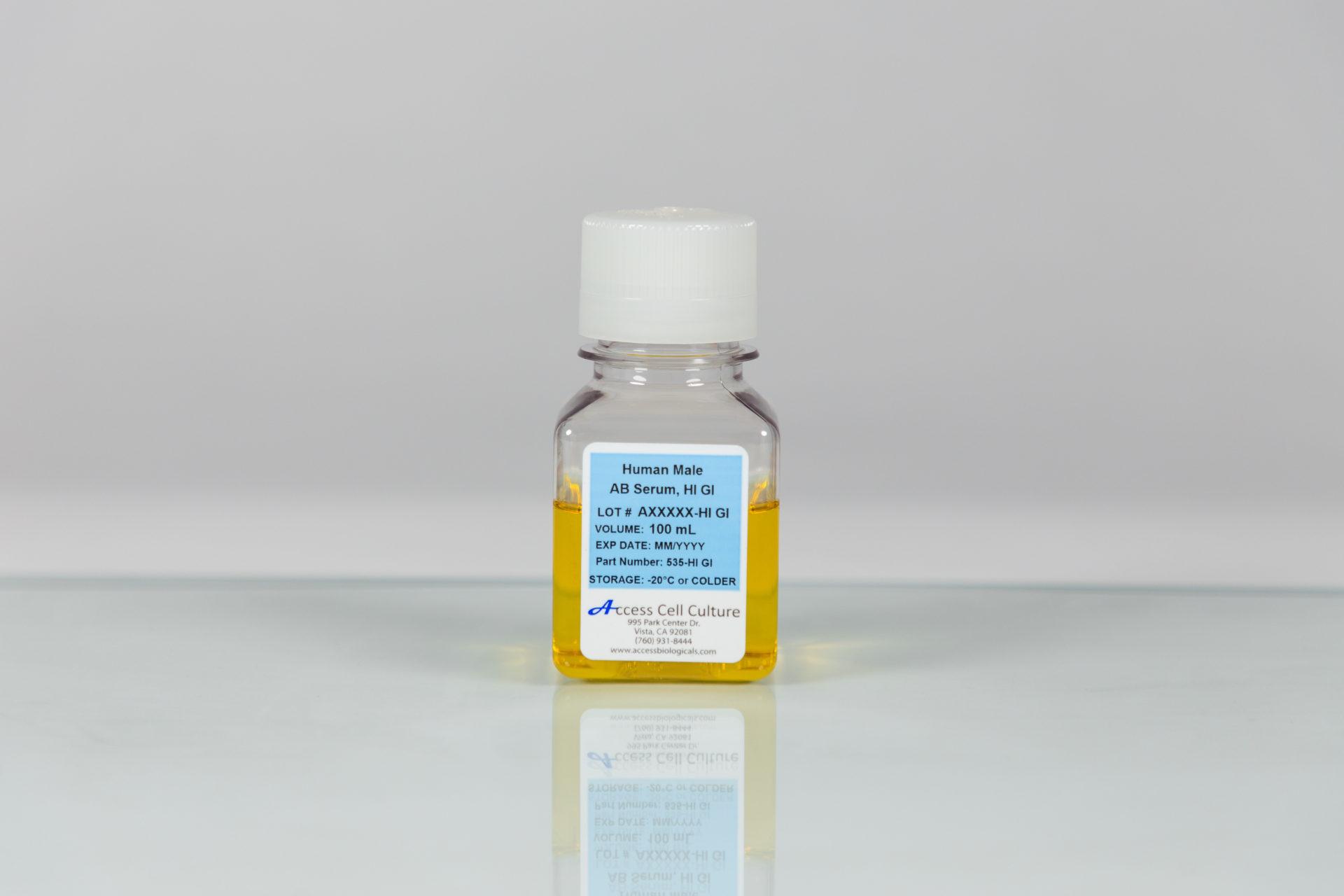 Gamma Irradiated Human Male AB Serum