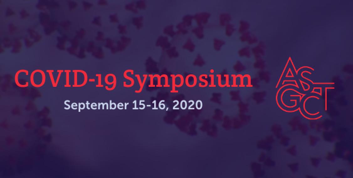 ASGCT's COVID-19 Symposium Sponsor
